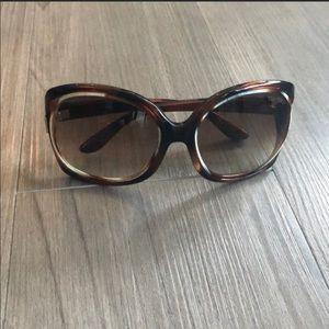 Tom Ford Brown Tortoiseshell Oversized Sunglasses